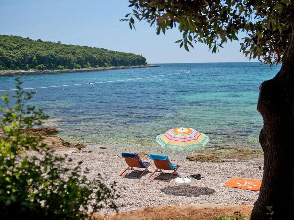 Hotels am Strand in Istrien in Kroatien